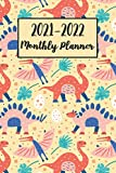 2021-2022 Monthly Planner: Dinosaur Planner Diary with Holidays, Calendar, Notes, Contact Organizer, To-Do List | Dino Gifts for Women, Girls, Boys, Adults