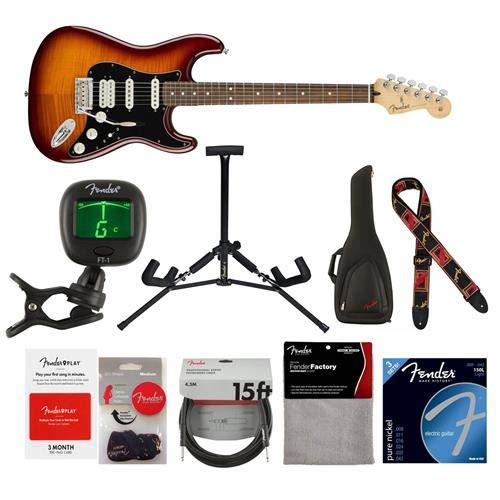 Cheap Fender Player Stratocaster HSS Plus Top Electric Guitar 22 Frets Modern