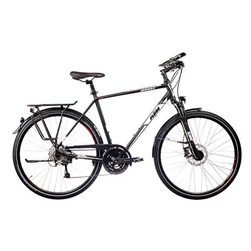 KTM Avenza 27 Disc Herren 27 Gang Trekking Fahrrad 2016, Farbe:Schwarz;Rahmenhöhe:51 cm