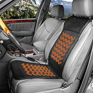 HEALTHMATE IN9449 Deluxe Sport 12V Heated Seat Cushion with Digit Controller Timer Setting and Temperature Setting DC Charger