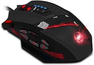 Ratón Gaming, Dland 12 Botones programables LED USB óptico profesional de alta precisión Ratones con cable ratón para jueg...