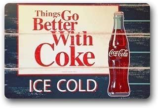 YGUII Eveler Custom Ice Coca Cola Bottles Indoor/Outdoor Doormat Door Mat Decor Rug Non Slip Mats 16X23.6in (40x60cm)
