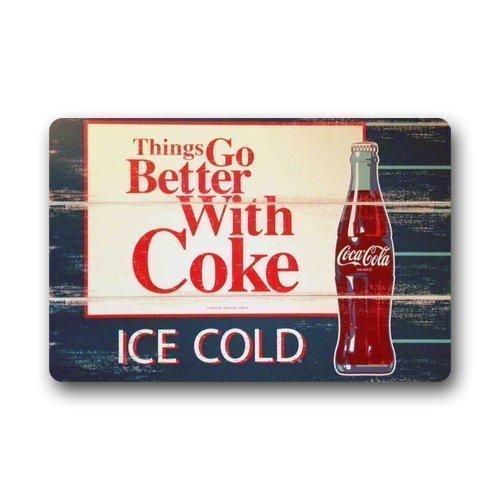 dingjiakemao Doormats Bath Rugs Outdoor Mat,Eveler Custom Ice Coca Cola Bottles Indoor/Outdoor Doormat Door Mat Decor Rug Non Slip Mats 23.6\
