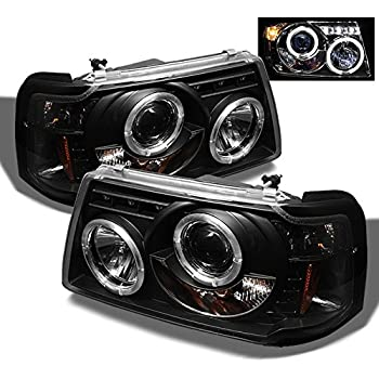 amazon com for 2001 2012 ford ranger pickup 2 in 1 black bezel dual halo ring projector headlights w corner signal lamps automotive for 2001 2012 ford ranger pickup 2 in 1 black bezel dual halo ring projector headlights w corner signal lamps