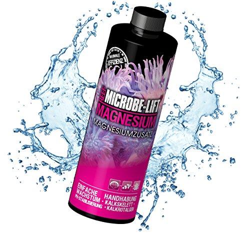 MICROBE-LIFT Magnesium - Magnesiumzusatz für jedes Meerwasseraquarium, inklusive pH-Stabilisierer, optimiert das gesunde Wachstum von Korallen und Wirbellosen, 473ml