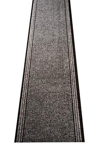 havatex Schmutzfang Läufer Kongo - und schadstoffgeprüft | pflegeleicht schmutzresistent robust und strapazierfähig | Flur Diele Eingang Küche Küchenteppich, Farbe:Braun, Größe:67 x 350 cm