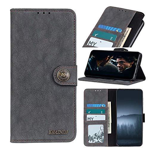 Funda para Motorola Moto E7 Power Case, a prueba de golpes, piel sintética, funda protectora magnética, funda protectora suave de TPU con soporte para tarjetas, ranuras para Motorola Moto E7 Power