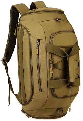DCCN Sport Duffle Bag Tactical, 3-in-1 sporttas reistas met schoenenvak, tarkeische rugzak handbagage weekender