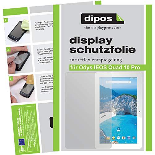 dipos I 2X Schutzfolie matt kompatibel mit Odys IEOS Quad 10 Pro Folie Bildschirmschutzfolie