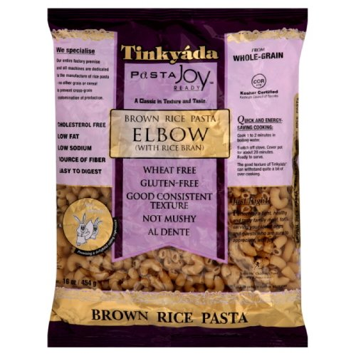 Tinkyada Brown Rice Elbow Pasta Gluten Free, 16-Ounce (Pack of 6)