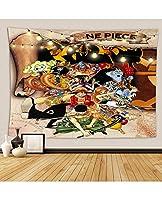 日本アニメワンピース家の装飾タペストリー柔らかい肌にやさしい家の装飾テーブルクロスのための寝室の居間寮の部屋 (Color : B, Size : 264*224)