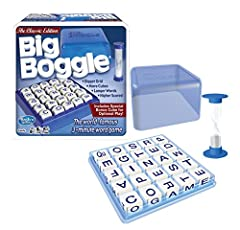 "BIG BOGGLE: Debuted in 1979 as ""Parker Brothers Bigger Hidden WORD Game,"" and enjoyed by Word game players for over 30 years. We are proud to bring you the classic Big Boggle game you remember. IT'S FUN AND SIMPLE: Start the timer, each player search..."