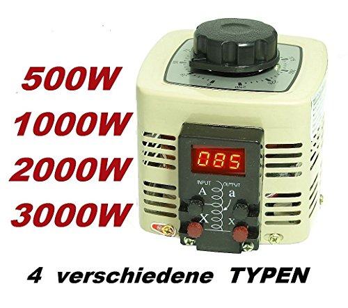 LED Digital Regeltrafo Ringkerntransformator 230V 500Watt 2A Stelltrafo Spartrafo Ringkerntrafo Ringkern transformator Trafo regelbar