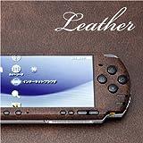 decotto PSP-3000専用デコシート decotto レザー-クラシックブラウン柄 フルセット【液晶保護フィルム付】