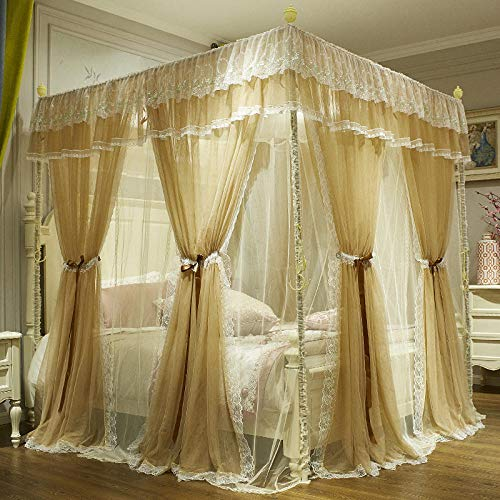 Vliegengaas met hoge black-out romantisch atmosphere prinses wind landing 1.5m Beige