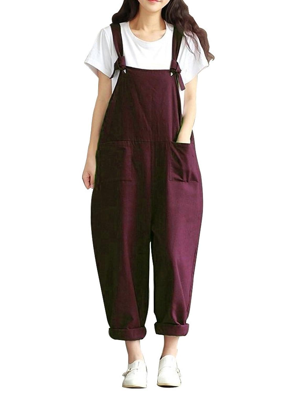 サロペット レディース オーバーオール ワークパンツ カジュアルパンツ サルエルパンツ ゆったり ボトムス 大きいサイズ やわらか ズボン
