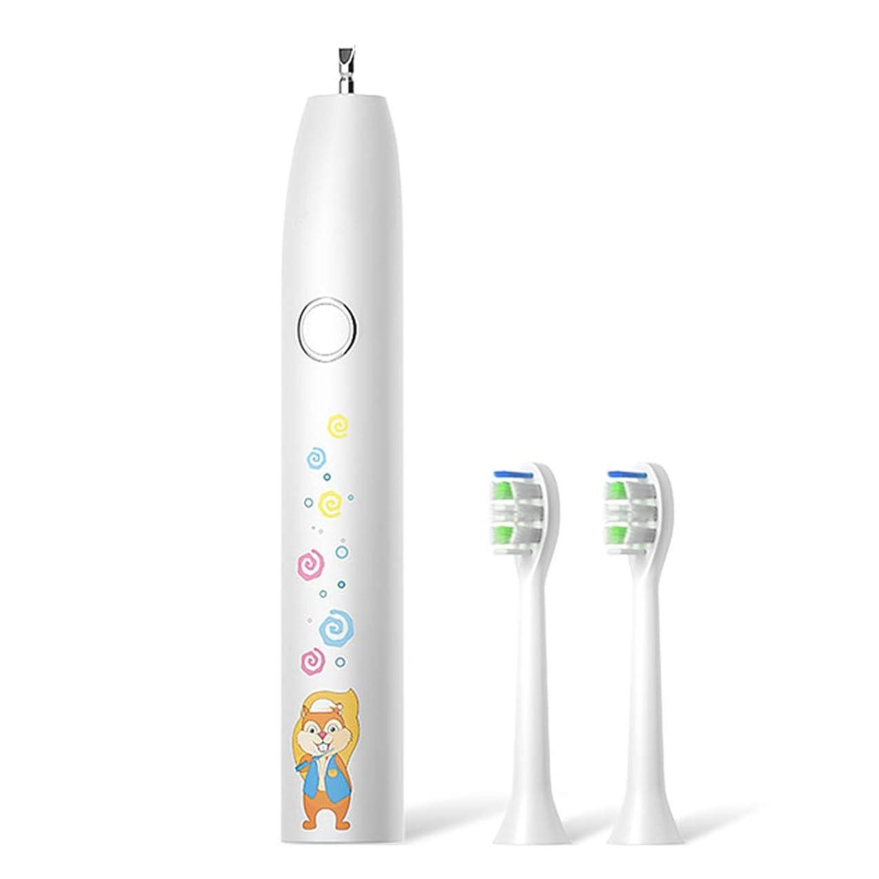不可能なバンド同様に電動歯ブラシ 口腔洗浄器 歯ブラシ 怠け者歯ブラシ 口腔健康用ツール 虫歯予防 全方位口腔健康 歯垢除去 細菌清浄 プレゼント IPX7防水 ポータブル アップグレード 子供 (ホワイト)