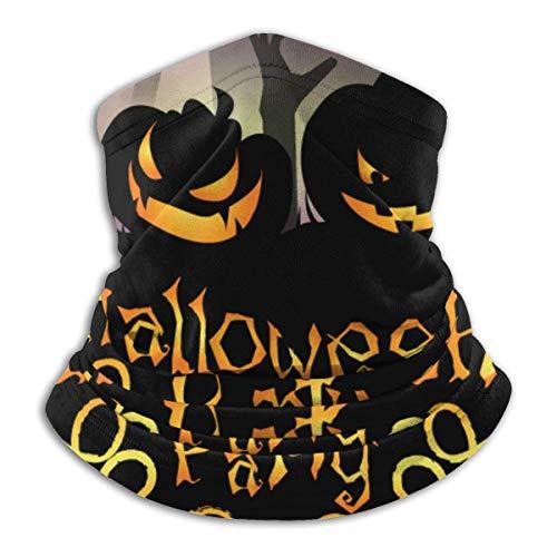 Famiglistimo Mscara de microfibra para fiesta de Halloween, calentador de cuello, protector de diadema, diadema y gorro