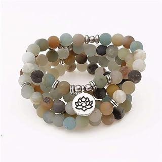 LEANER Beaded Bracelets Bead Multi Layer Versatile Statement Bracelets - Stackable Beaded Strand Stretch Bangles Sparkly C...
