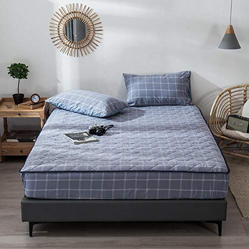GTWOZNB Extra Deep Fitted Bed Sheet Hotel Quality Fitted Bed Sheets Bed Sheet Thicken Home Simple-Style Blue a80_120*200+30cm