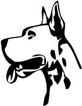 YINGJUN 11.1x14.6CM Great Dane Head Funny Window Decoratieve muurstickers Classic Animal Car Stickers Zwart/Zilver C6-1586...