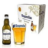 【Amazon.co.jp限定】 【オリジナルグラス付きセット】ヒューガルデン ホワイト瓶 [ ベルギー 330ml×4本 ] [ギフトBox入り]