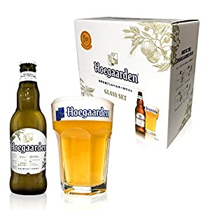 『【Amazon.co.jp限定】 【オリジナルグラス付きセット】ヒューガルデン ホワイト瓶 [ ベルギー 330ml×4本 ] [ギフトBox入り]』