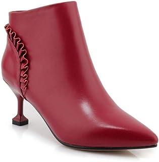 Tacón De Amazon Zapatos esBotines Mujer Rojo Para e2H9EIYWD