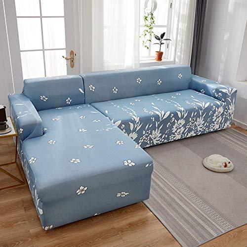 Fsogasilttlv Cubre Antideslizante 3 plazas, Fundas de sofá Chaise Longue Impresas en Forma de L para Sala de Estar, Protector elástico Antipolvo para Esquina J