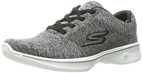 Skechers Skechers Damen Go Walk 4 Low-top Sneaker, Schwarz (Black/white), 41 EU