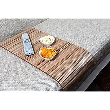 Sofa Tray Table - Long ( European Walnut ), Sofa Arm Tray, Armrest Tray, Sofa Arm Table, Couch Tray, Coffee Table, Sofa Table,Wood Tray,Wood Gifts