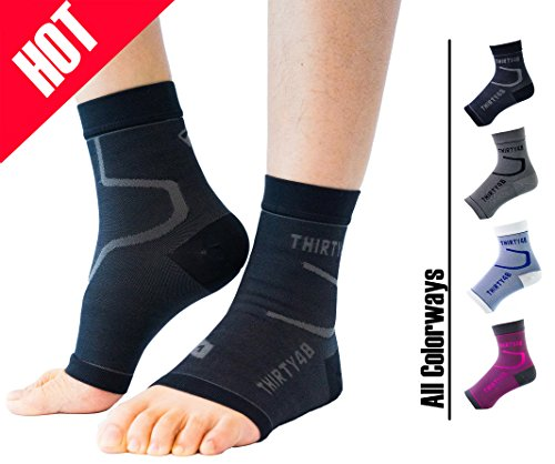 Thirty48 Plantar Fasciitis Socks, 20-30 mmHg Foot Compression Sleeves for Ankle/Heel Support,...