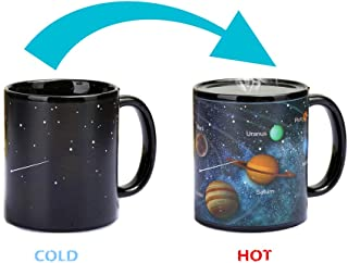 Heat Changing Mug Colour Changing Mug Magical Coffee Mug Tea Cup Perfect Novelty Gift 11OZ-BPA Free Ceramic (Solar System)