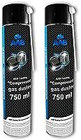 AAB Aria Compressa Spray 750ml - Kit Pulizia PC, Tastiera, Stampanti, Televisioni, Fotocamere e Altri, Bombole, Spray da...