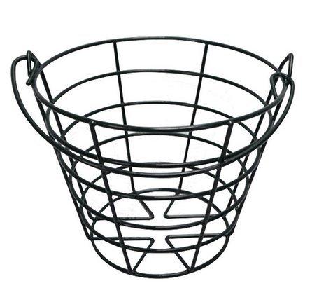 CRESTGOLF Cesta para pelotas de golf , recipiente para pelotas de golf de metal negro con asa, recipiente para bolas, lata contiene 50 bolas