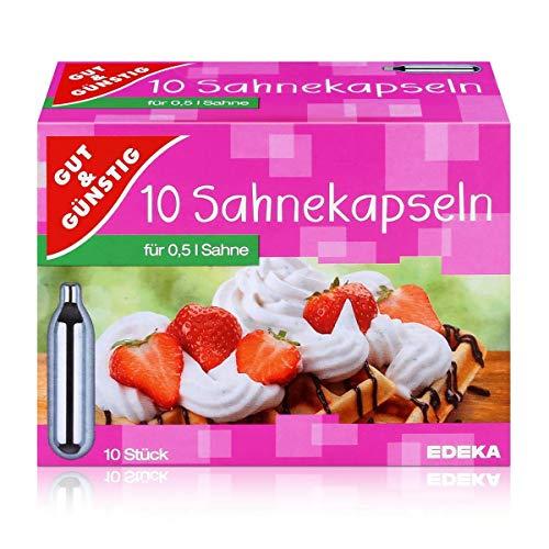 Gut & Günstig Sahnekapseln für 0,5 Liter Sahne Inhalt: 10 Kapseln