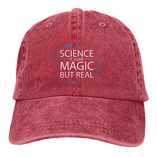 Science It Like Magic But Real Funny Science - Gorro de cobertura para mujer y hombre, cálido y grueso, cálido invierno, rosso, Talla única