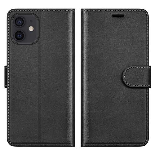 ykooe Funda para iPhone 12 Mini, Protector PU Cuero con Tapa Carcasa para iPhone 12 Mini (Negro)