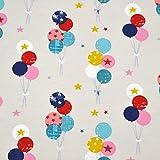 MAGAM-Stoffe Bunte Luftballon Parade Kinderstoff Oeko-Tex