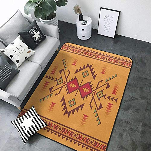 Native Southwest American Indian Aztec Modern Area Rugs Home Decorative Rugs Yoga Mat Floor Carpets Mat Home Decor for Bedroom Living Playing Room