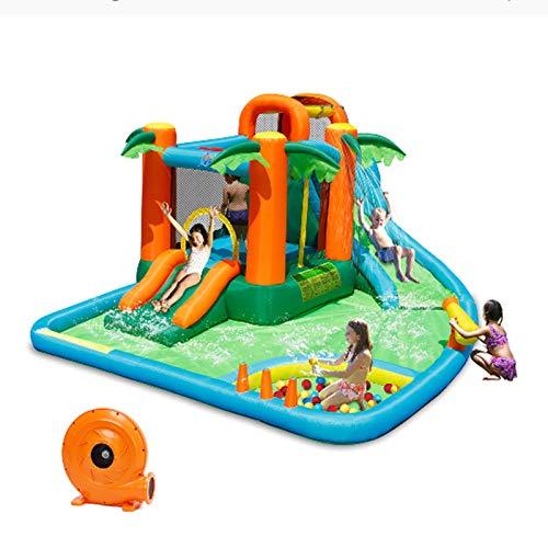 FRHKFJYKH Centre de Jeux Gonflable pour Enfants, Piscine Gonflable avec Ventilateur et...