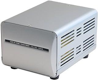 カシムラ 海外国内用 変圧器 AC100V / AC 110V ~ 130V / 1000W 本体電源プラグ Aプラグ , 出力コンセント Aタイプ×2 NTI-4