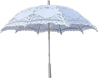 OUNONA Sombrilla paragüero Hecha a Mano del Paraguas del Paraguas (Blanca)