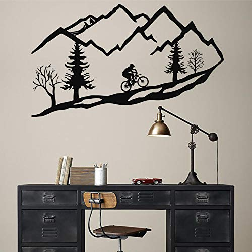 Tamengi Metal Wall Art Mountain Bike Trees, Mountain Bike Metal Wall Decor Home Decoration Living Room Decor Housewarming Gift Interior