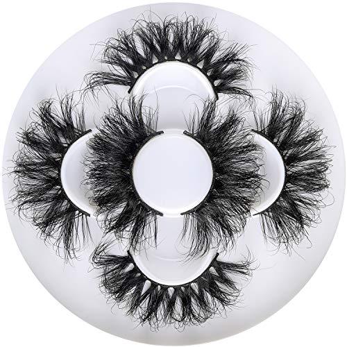 25mm 3D Mink Lashes Full Volume Mink Eyelashes Fluffy Volume Dramatic 25mm Mink Lashes Extension Cruelty-free Siberian Mink Strip Eyelashes (06 61 82 mix)……