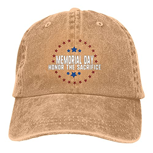Jopath Memorial Day- Honor Sacrifice Unisex Deportes Denim Cap Moda Béisbol Sombrero Vintage