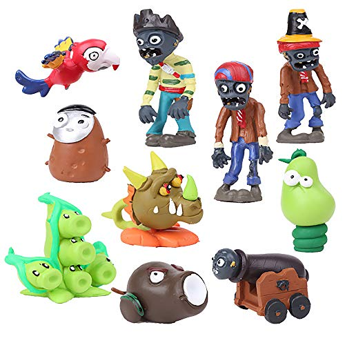 Plants vs Zombies 10pcs Action Figures Set Toys Series Game Role Figure Display Toy PVC (A)