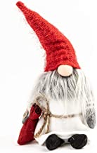 Sierra Pacific Crafts Christmas Garden Gnomes - Plush Gnome Toy Collective Figurine Doll Santa for Festive Decoration, Tree Ornaments, Christmas Decorations Bag Red, Grey or White 7x3x11in