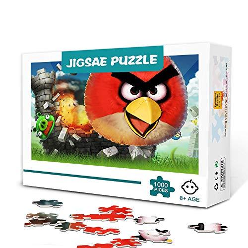 500 Piezas de Juego de Rompecabezas para Adultos o niños Angry Birds Rompecabezas de Madera Educativo para Padres e Hijos el Juego Decoración del hogar Rompecabezas 52x38cm