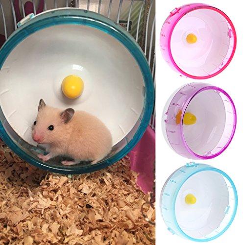 Biniwa – 1 Pieza de plástico silencioso para Correr, Juguete de Rueda para Mascotas pequeñas, hámster y ratón, Juguetes de Ejercicio